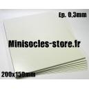 Carte plastique 200x150x0.3