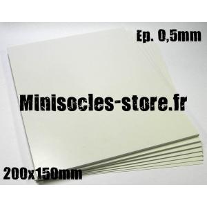 Carte plastique 200x150x0.5