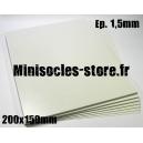 Carte plastique 200x150x1.5