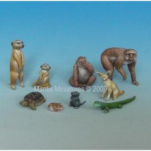 Set d'animaux méditerranéens et africains (x9) Echelle 54mm