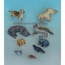 Set d'animaux des villes (x9) Echelle 54mm
