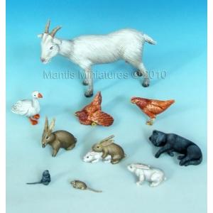 Set d'animaux de la campagne (x11) Echelle 54mm