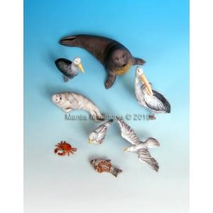 Set d'animaux marins (x8) Echelle 54mm