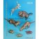 Set d'animaux des forêts et rivières (x8) Echelle 54mm