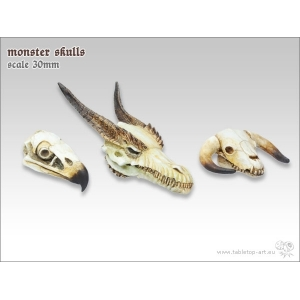 Crânes de monstres 28mm