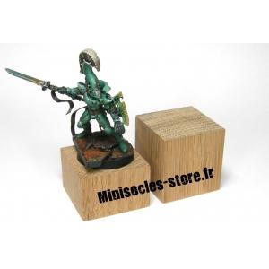 Socle chêne plat - 30x20mm