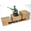 Socle chêne plat - 40x20mm