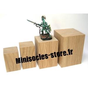 Socle Chêne haut - 30x50mm