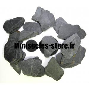 Morceaux d'ardoise noire XL