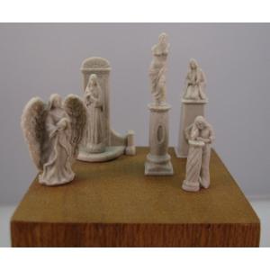 Statues et piédestaux 54mm