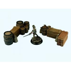 Caisses empilées et Barils Grand Modèle (N°1) 28-32mm