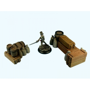Caisses empilées et Barils Grand Modèle (N°2) 28-32mm