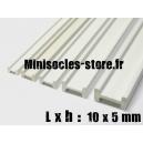 Tige pour poutre métallique 10x5mm