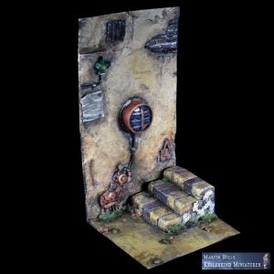 Décor Ruelle avec escaliers 54mm
