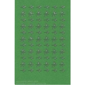 Photo découpe Papier Feuilles de Chêne vertes 1:56
