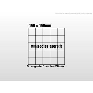 Plateau de mouvement 100x100mm