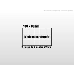 Plateau de mouvement 100x60mm