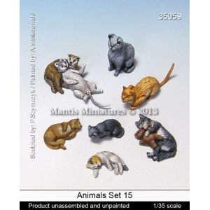 Set de chats (x8) Echelle 54mm