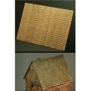 Plaque de balsa texturée : Tuiles en bois