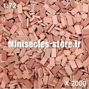 Briques 1/72 (x2000) Rouge Mélangé