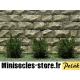 Arbustes 15 mm Vert Chêne feuilles très fines MINISOCLES