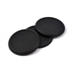 Socle rond bords arrondis 50 mm plein PLASTIQUE NOIR (x1)