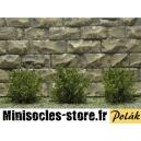 Arbustes 15 mm Vert Moyen feuilles fines MINISOCLES