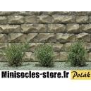 Arbustes 15 mm Vert Saule très fines MINISOCLES