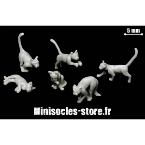 Les chats (Set 2) Echelle 28-32mm