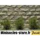 Arbustes 15 mm Vert Savane fines MINISOCLES