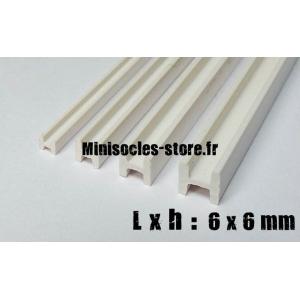 Tige pour poutre métallique en H 6x6mm