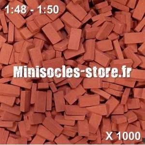 Briques 1/48-50 (x1000) Rouge Foncé