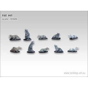 Set de gros rats Echelle 28-32mm (x10)