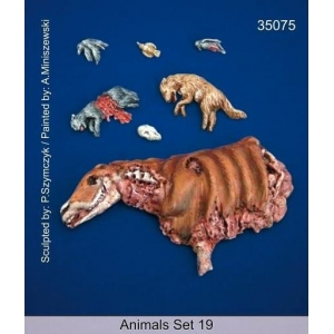 Set d'animaux morts / carcasses (x7) Echelle 54mm