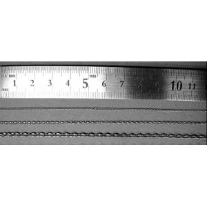 Chaine 3 x 2mm, diamètre 0.6mm (50cm)