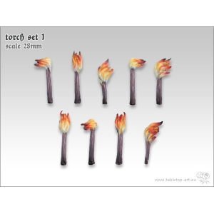 Torches 28-32mm (x9)