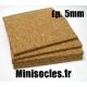 Plaque de liège - 5mm MINISOCLES