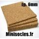 Plaque de liège - 6mm MINISOCLES
