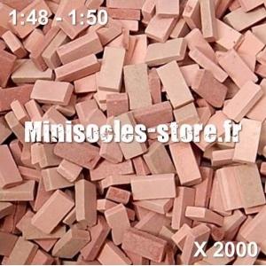 Briques 1/48-50 (x2000) Rouge Mélangé