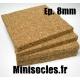 Plaque de liège - 8mm MINISOCLES