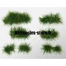 Set de 44 Touffes d'herbe Vert Foncé