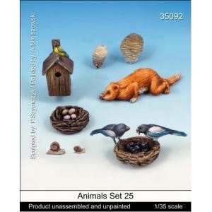 Set de petits animaux de la forêt Echelle 54mm