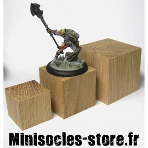 Socle cube Chêne - 30mm