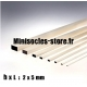 Tige Balsa rectangulaire 2x5mm
