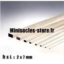 Tige Balsa rectangulaire 2x7mm