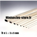 Tige Balsa rectangulaire 3x5mm