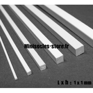 Tige carrée 1x1mm (30cm)