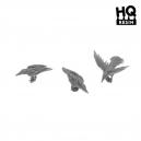 Set de corbeaux N°2 Echelle 28-32mm (x6)