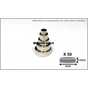 Aimants Néodyme 3mm x 0.5mm (x50)
