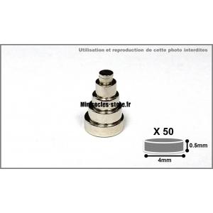 Aimants Néodyme 4mm x 0.5mm (x50)